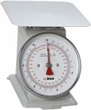 Winco B003HER2D4 SCAL-66 6-Pound/3kg Scale with 6.5-Inch Dial, Medium, White, Steel