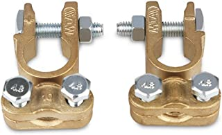 WATERWICH Heavy Duty Positive & Negative Battery Terminals Connectors Clamps Set Universal Battery Cable Terminal Adapter for Ship Boat Small Yacht RV Camper Truck Car Vehicle (Battery Terminal Set)