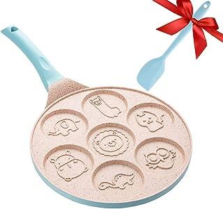 Pancake Griddle Pancake Pan Nonstick Small Fry Pan 7 Animal Pancake Molds -Non-stick Griddle Pan Blue