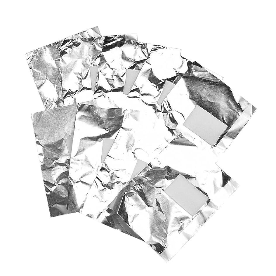 調整する中絶寛大なKesoto 約100枚 ジェル除却 ネイルアート ネイル装飾除き 錫箔紙 ネイルオイル 包み紙 クリーナーツール