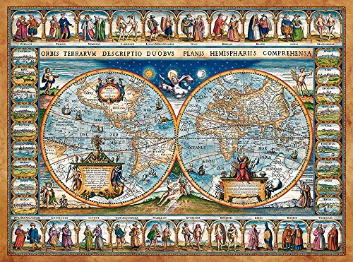 Castorland CSC200733 Map of The World,1639, 2000 Teile Puzzle, bunt