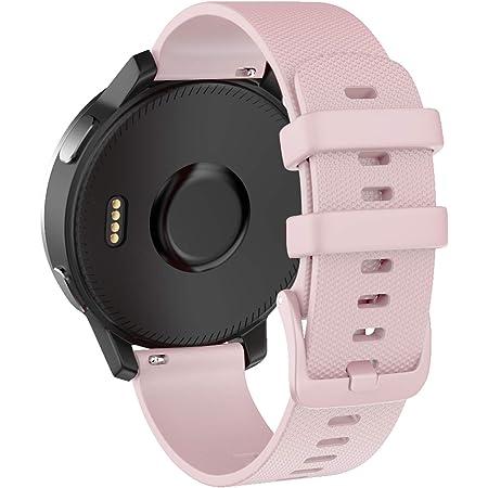 ISABAKE Bracelets pour vivoactive 4s/vivomove 3s/Garmin Active S/Garmin Approach S2/Fossil Q Venture Gen 3/Gen4, Libération Rapide Watch Band en Silicone 18mm Montres Remplacement