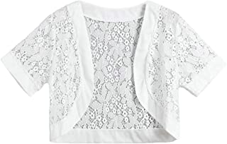 Women's Lace Shrug Short Sleeve Bolero Cardigan