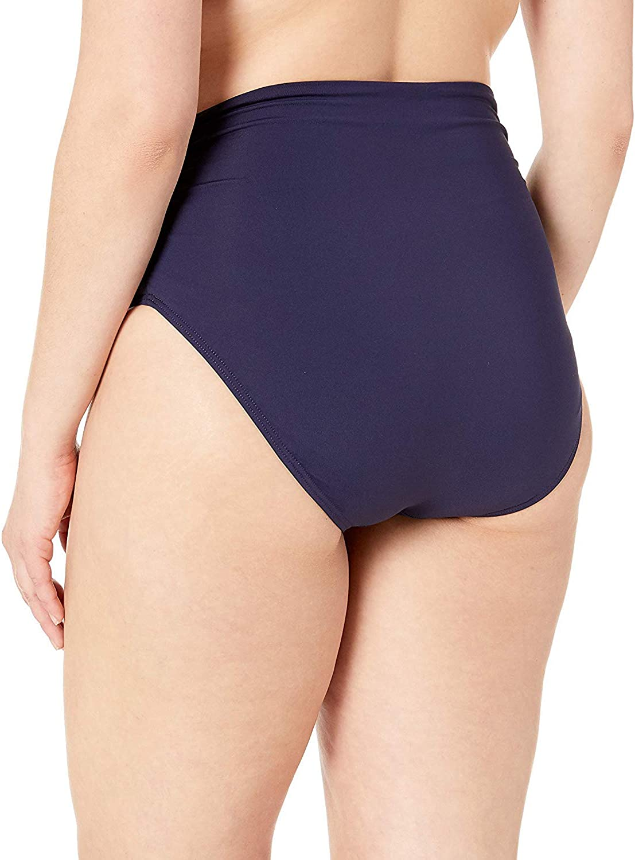 Anne Cole Women's Plus-Size High Waist Fold Over Double Lined Bikini Swim Bottom