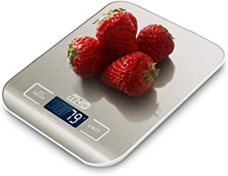 Best TNO Digital Food Scale, 11lb/5KG Kitchen Scale Weight Grams and oz for Cooking Baking, 0.1g/0.04oz Precise Graduation,304 Stainless Steel and HD LCD Display (Batteries Included) Review