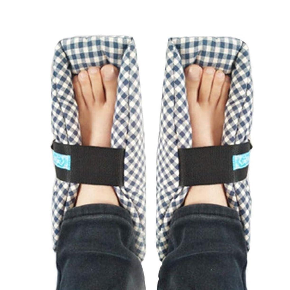 のぞき見延ばす全能TONGSH 足枕、かかとプロテクター、かかとクッション、かかと保護、効果的な、瘡およびかかと潰瘍の救済、腫れた足に最適、快適なかかと保護足枕、1組、格子縞