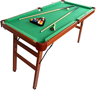 AHHC 55'' Folding Billiard Table, Pool Game Table Includes Cues, Ball, Chalk, Rack, Brush for Kids