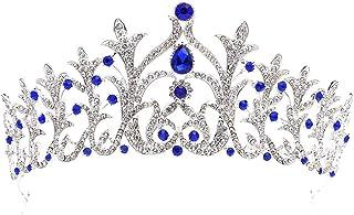 Dongyu Accessori for Capelli da Sposa con Corona di Strass Bellezza Copricapo da Sposa in Lega di Cristallo (Color : C)