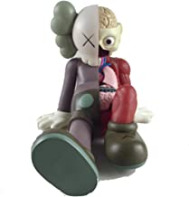 12 Inch Kaws BFF Sit Sitting Dissected Companion Original Fake Art Toys Action Figure Figurine Plush Doll Toy Model Statue Accessories Collection 3 Color Black Brown Grey Fancy Morden Gift (Brown)