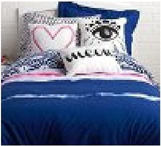 Dormify Reversible Ivy Comforter Set, Navy (Twin / Twin XL)