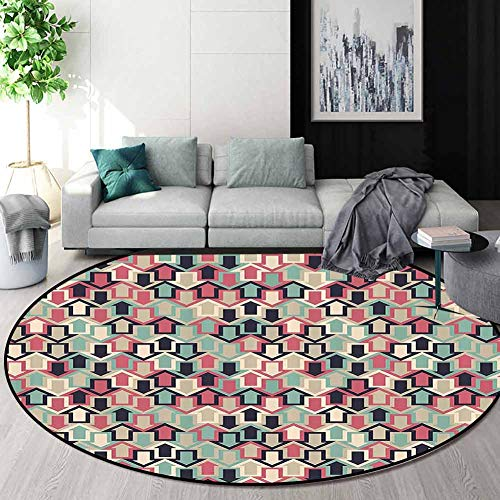 Best Review Of RUGSMAT Abstract Modern Round Abstract Area Rug,Arrows Modern Trendy Creative Symbol ...