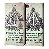iPhone 8 Plus Wallet Case, IMAGITOUCH Folio Flip PU Leather Wallet Case with Kickstand Wrist Strap and Card Slots for iPhone 8 Plus, 7 Plus - Slim Book Deathly Hallows Always Wallet