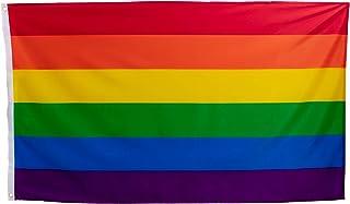 esvendio Bandera LGTB Grande de Tela Fuerte, Bandera Gay para Exterior 150x90 cm