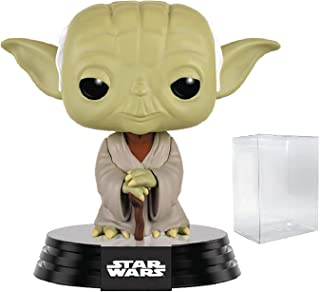Star Wars: Dagobah Yoda Funko Pop! Vinyl Bobble-Head Figure (Includes Compatible Pop Box Protector Case)