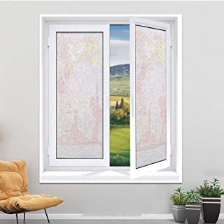 MAGO-SWL Window Film Non-Adhesive Heat Control Anti UV Static Cling Window Film for Bathroom Kitchen Living Rome and Office Tile,Full-Size,17.7 x 35.4 inches,Lantern,Vintage Japanese Style Chines