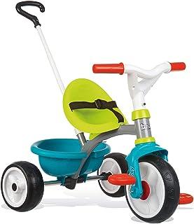 Triciclo Be move azul con volquete y ruedas silenciosas (