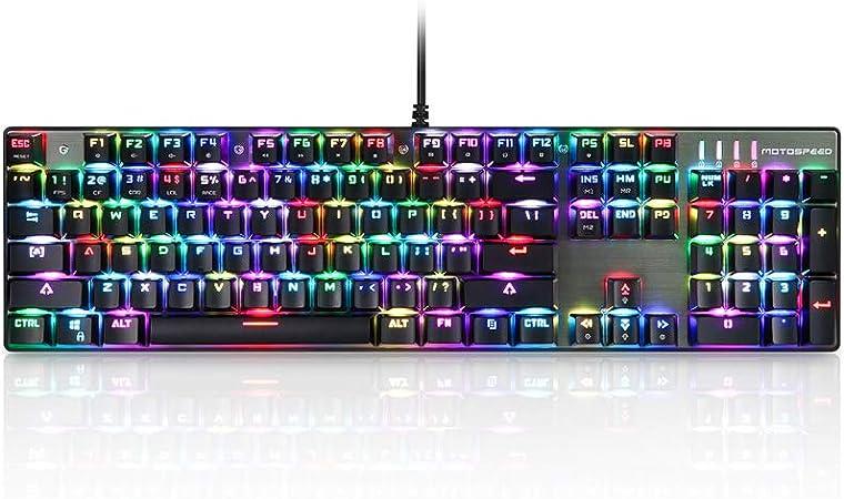Docooler MOTOSPEED CK104 Teclado mecánico para Juegos USB con ...