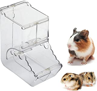 Hamster Feeder, Food Dispenser Transparent Acrylic, Automatic Gravity Feeder, Suitable for Feeding Hamsters, Guinea Pigs, ...