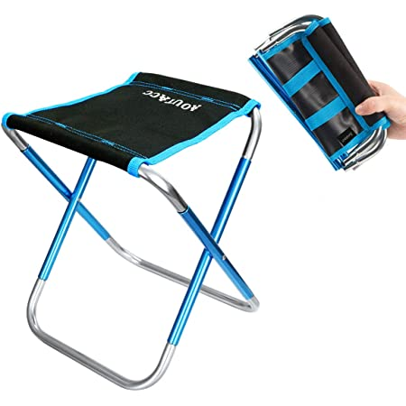 E-Road Mini Portable Folding Stool,Ultra Light Outdoor Slacker Chair Hiking Fishing Camping Seat with Carry Bag