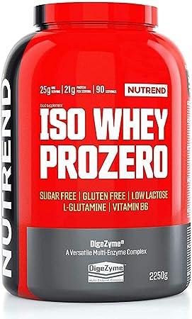 Nutrend Iso Whey Prozero 1 paquete Whey Protein Isolate WPI Desarrollo muscular (Chocolate Brownie, 2250g)