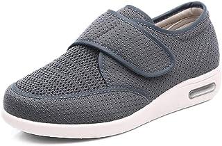 B/H Scarpe Diabetiche,Scarpe per Piedi diabetici, Scarpe grasse Regolabili-Gray_40,Pantofole Pantofola Velcro