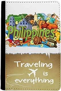 Camiguen Philippine Graffiti Traveling quato Passport Holder Travel Wallet Cover Case Card Purse