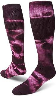 Red Lion Revolution Tie Dye Cotton Athletic Tube Socks ( Maroon Tie Dye - Medium )