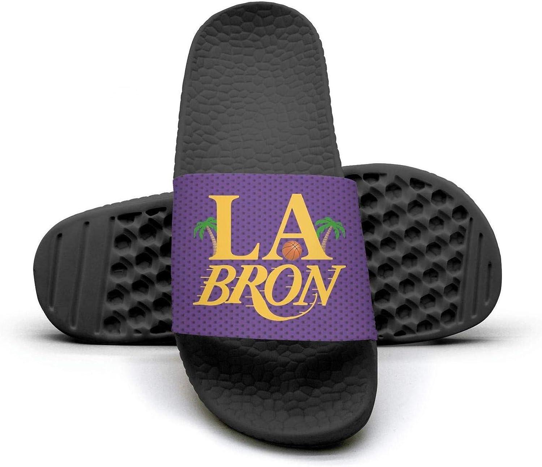 ADIDII Womens Printed Non-Slip Slipper Slides flip Flop Sandals La_Bron_Yellow_Logo_Basketball Summer Casual