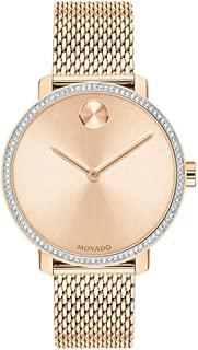 Women's Swiss Quartz Watch with Stainless Steel Strap, Rose Gold, 15 (Model: 3600657)