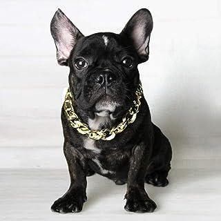 e36a204cc5f Fuerte Plata Oro Acero Inoxidable Deslizante Collar de Perro Metal Perros  de Entrenamiento Collares de Cadena