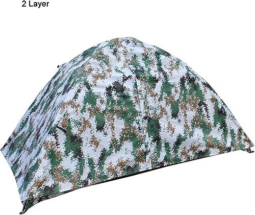 MIMI KING Tente Portable Seule Personne léger imperméable à l'eau Windproof Unisexe pour Camping Voyage randonnée Plage pêche Backpacking,2Layer