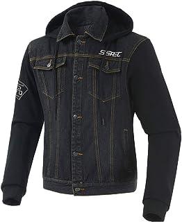 SHOULIEER Veste de Moto en Denim pour Hommes Quatre Saisons Moto Course équipement de Protection Veste vêtements Sweat à C...