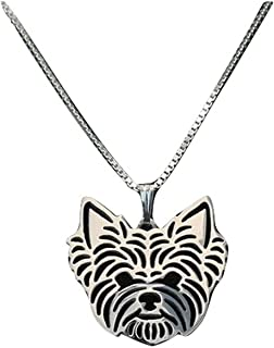 Yorkshire Terrier Necklace Yorkie Dog Lovers Silver Color Pendant Necklace on 17