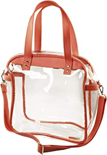 Capri Designs Stadium Approved Coated Cotton Canvas Clear Carryall Tote Bag