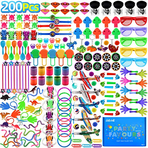 nicknack 200pcs Classroom Prizes for Kids Birthday Party Favors Pinata Filler Toy Assortment Prizes for Goodie Bag Fillers