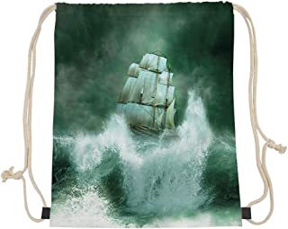 GULTMEE Drawstring Backpack Bag,Old Rustic Pier on Beach and Romantic Tranquil Sky Pure Twilight Concept,Women&Men Sport Gym Sack Cinch Bag