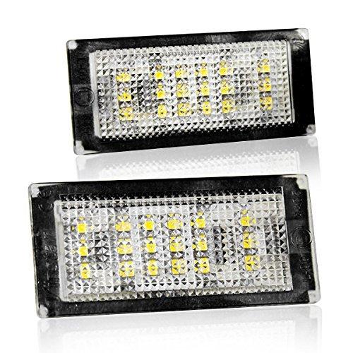 LED Kennzeichenbeleuchtung mit Zulassung Canbus Plug&Play kompatibel mit BMW 3er E46 Coupe (04.03-07), Cabrio (04.03-07) Nicht passend bei Limousine und Touring V-030101
