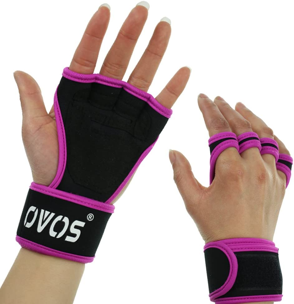 OVOS Workout Gloves with Grip  Wrist Wrap Great for Gymnastics