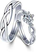 Fortheday Personalized Couple Rings for Him and Her Sets Promise Rings Matching Couples Rings 2pc Engraving Both Sides