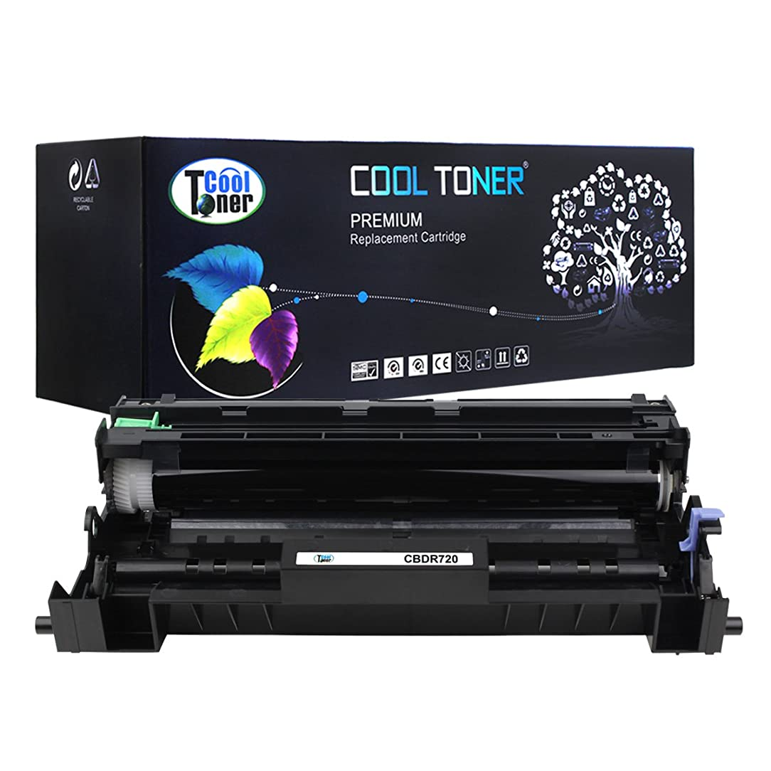 Cool Toner 1Pack 30,000 Pages Compatible Drum Unit Replaces Brother DR-720 DR720 Used for HL-5440D HL-5450DN HL-6180DWT HL-5470DW MFC-8510DN MFC-8710DW DCP-8810DW DCP-8910DW DCP-8950DW