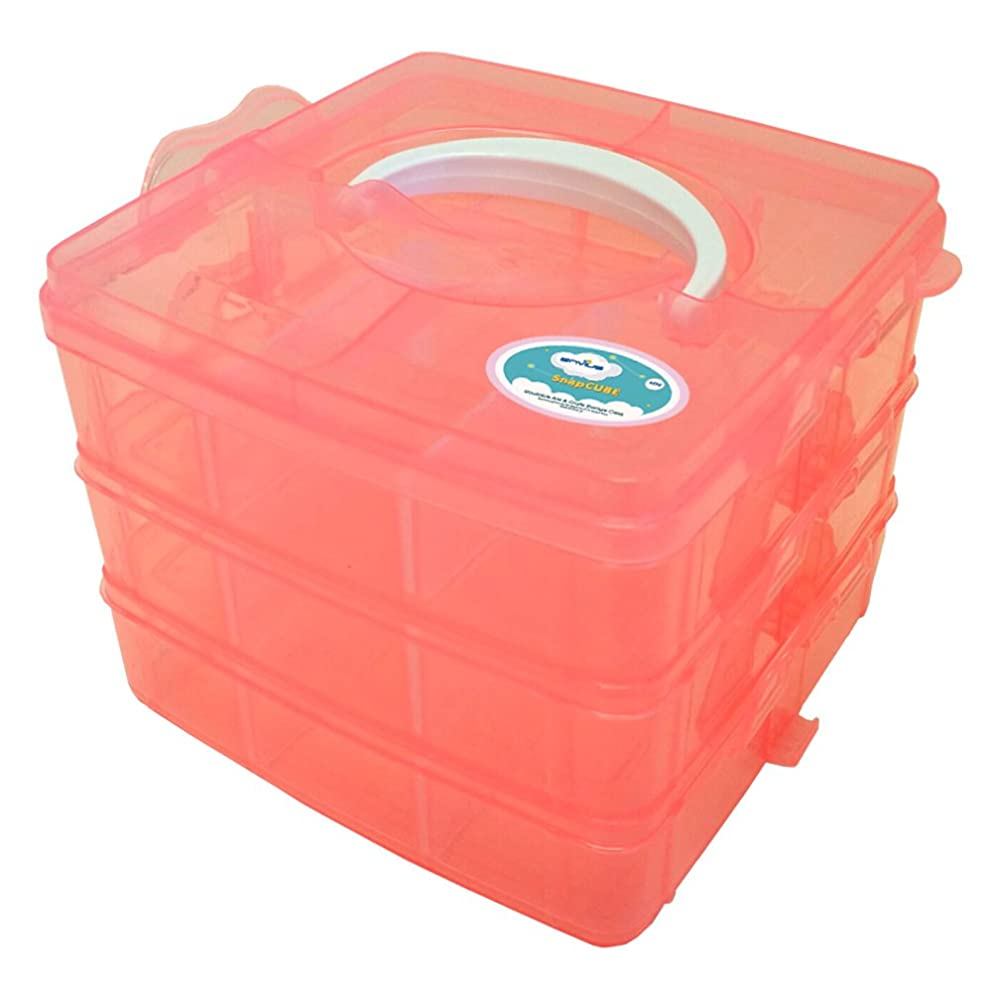 EnviUs SnapCube - Snap & Stackable Storage Case for Rainbow Loom + Arts & Crafts (Mini, Orange)
