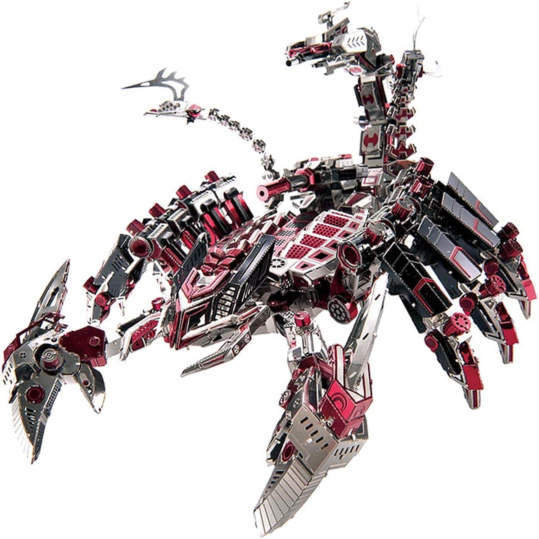 D DOLITY 746pcs  set 3D Metal Puzzle  DIY Fighting Scorpion Robot Model Assemble Model Kits Jigsaw Building Toy Home Decor Souvenirs