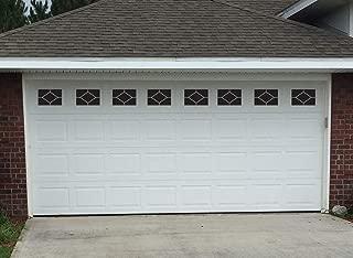 Sanfurney Magnetic Garage Door Windows Panes Diamond Style Pre-Cut Faux Fake Decorative Window Decals 40 Pack for 2 car Garage Kit