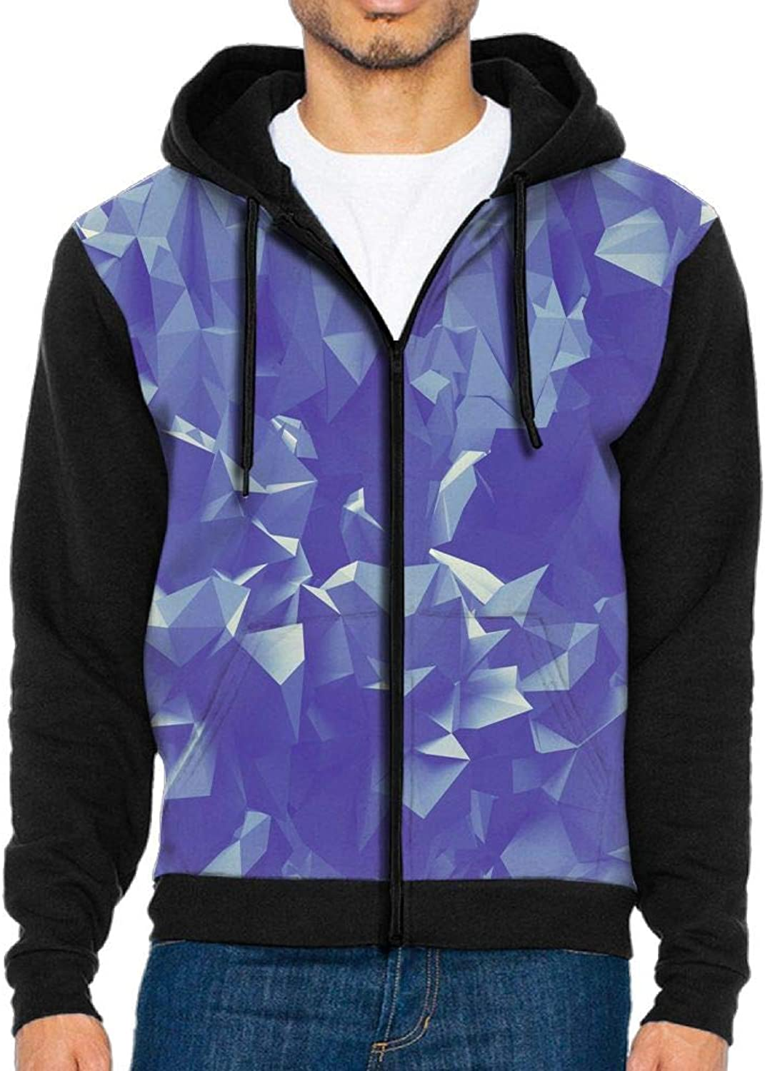 PIN Men's colorful Triangle Texture Pattern Hoodie Baseball Sweater