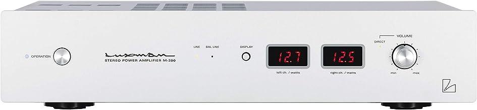 Luxman M-200 Stereo Power Amplifier Blaster White