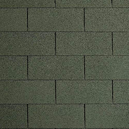 Bitumen-Dachschindeln Rechteck grün, 3 m², Bitumendachschindeln, Dacheindeckung