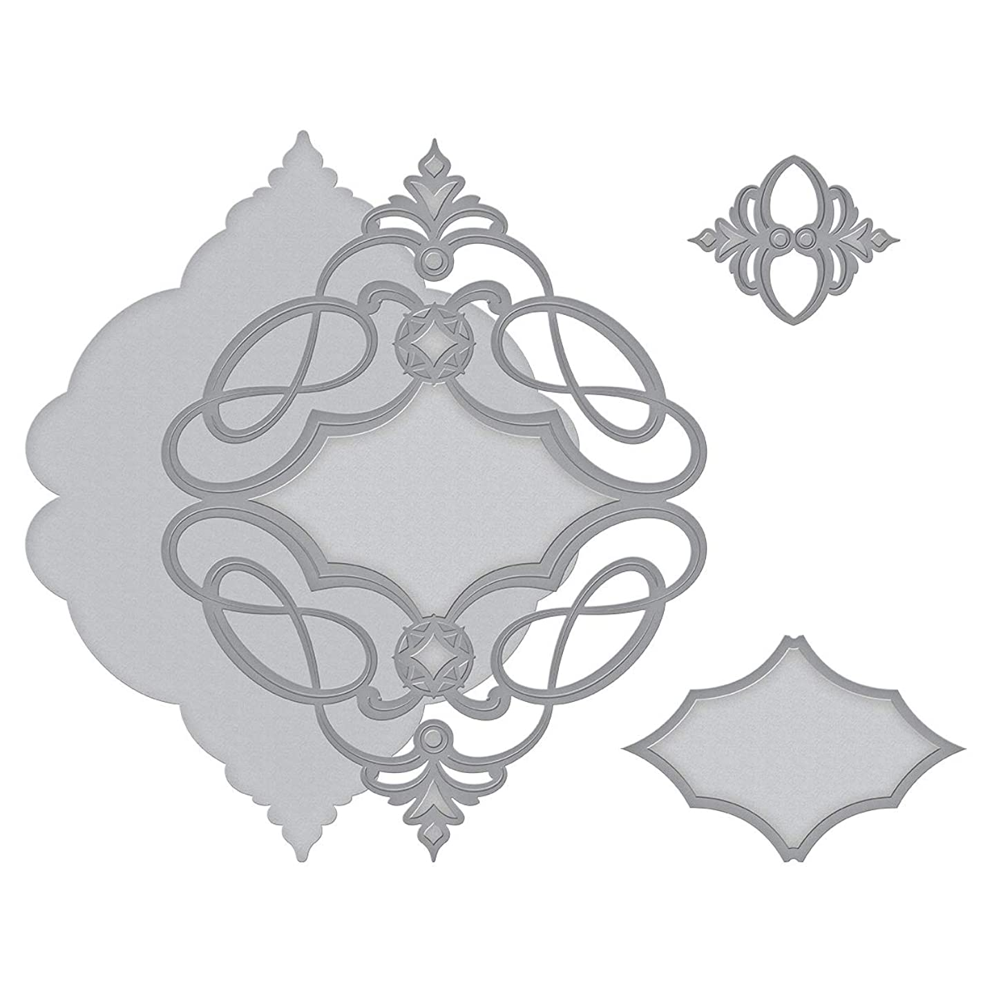 Spellbinders S4-994 Shapeabilities Marquise Diamond Pendant Etched/Wafer Thin Dies Metal