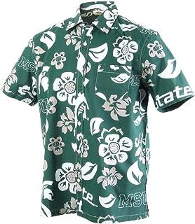 NCAA Mens Short Sleeve Button Up Floral Beach Shirt