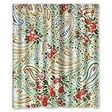 Honey Tag House Paisley Duschvorhang, wasserdicht, 60 x 72 Geschenk