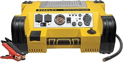 STANLEY PPRH5 Professional Power Station Jump Starter: 1000 Peak/500 Instant Amps, 500W Inverter, 120 PSI Air Compressor, Battery Clamps